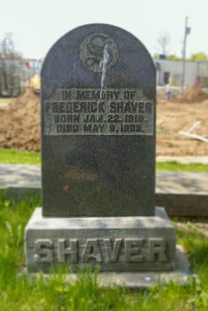 Frederick A. Shaver - headstone