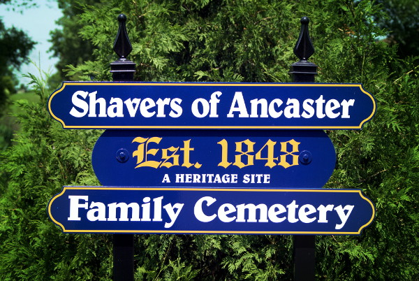 Shavers of Ancaster Family Cemetery - Est 1848
