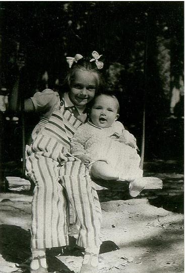 6 month old Douglas Croft with his sister