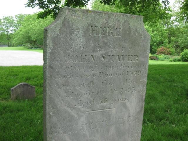 John Shaver headstone: photo used with permission by Jim Shaver