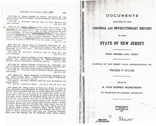 New Jersey Calendar of Wills