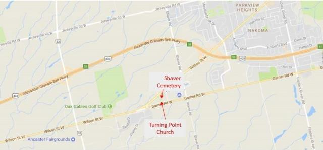 Shaver Family Cemetery Location