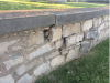 Shaver Family Cemetery - South wall deteriorating - 2017-06-14