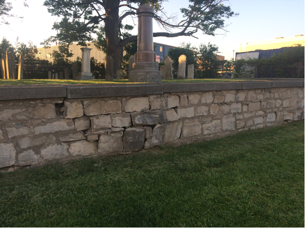 Shaver Family Cemetery - South wall deteriorating